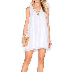 SHOW ME YOUR MUMU Rancho Mirage Lace Up Dress S